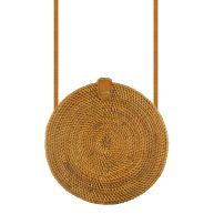 Round Bali Bag - Brown