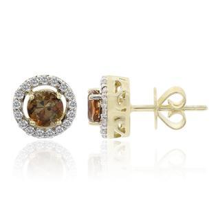Gouden oorbellen met andalusieten