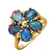 Damesring met opaal Diemer Farbstein multicolor