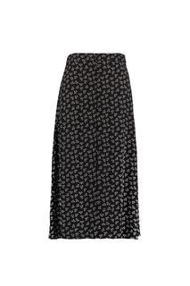 Dames Lange rok met knoopsluiting Zwart