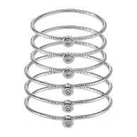 ALDO CYVIEL 6 PACK Ring rhodium
