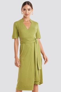 Wrap Jersey Midi Dress