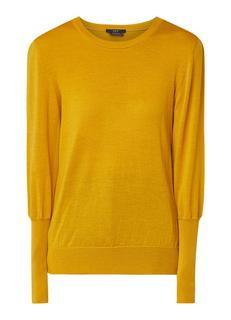 Pullover van wol met ronde hals