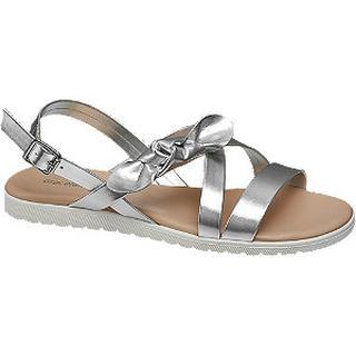 Zilveren sandaal strik