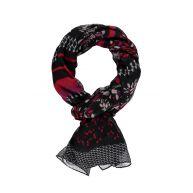 sjaal met gemixt dessin