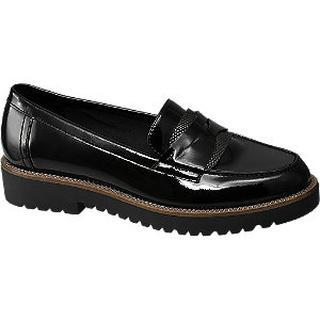 Zwarte lak loafer grove zool