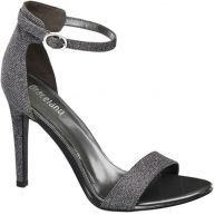 Zilveren sandalette glitters