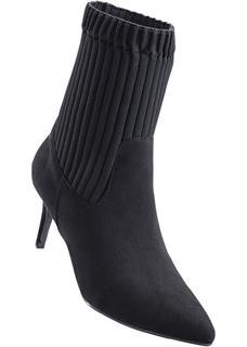 Dames enkellaarsjes in zwart