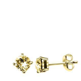 Zilveren oorbellen gold Swarovski Crystal colorado