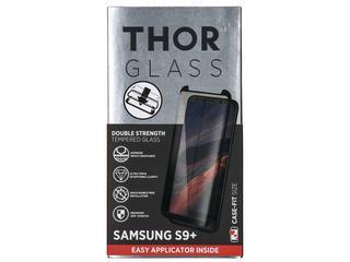 Case-Fit Screenprotector + Easy Apply Frame voor Samsung Galaxy S9 Plus - Zwart