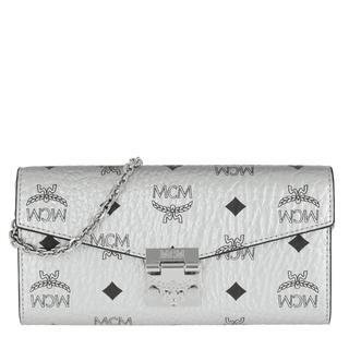 Tasche - Patricia Visetos Flap Wallet Berlin Silver in zilver voor dames
