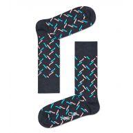 Happy Socks Sokken Socks Fence Blauw