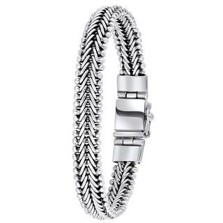 Zilveren armband visgraat schakel