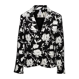 Allover print sweat blazer