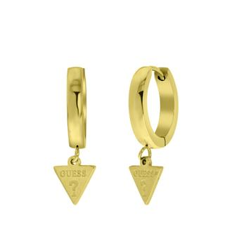 stalen goldplated oorbellen triangle 15mm