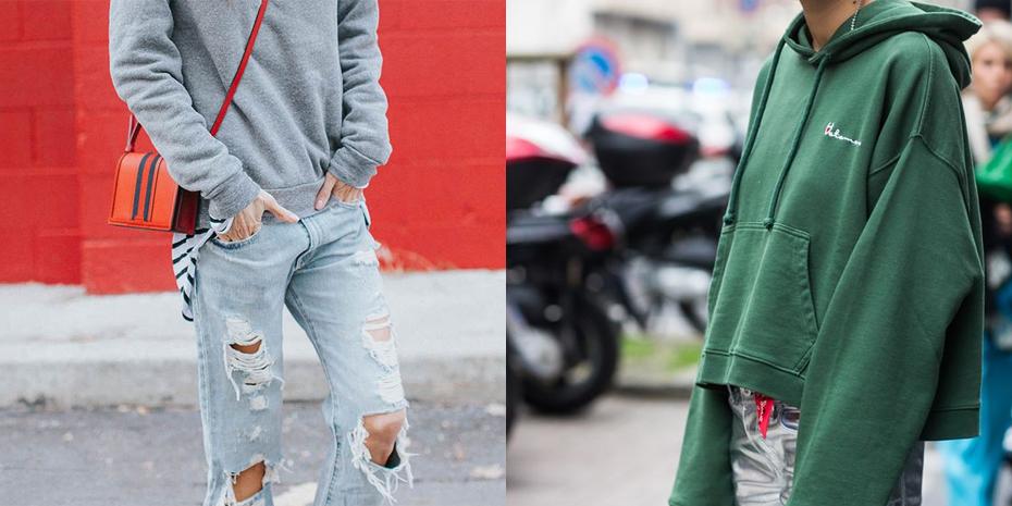 Met een spannende jeans