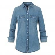 Gaastra Denim blouse Marinerita blauw Dames