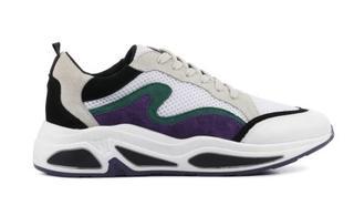 Dames Sneakers in Stof (Beige)
