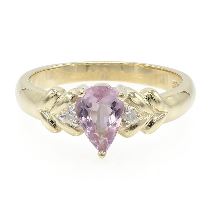 Juwelo Gouden ring met een roze koper toemalijn Kopen Goedkope Warm Te Koop Klaring Laagste Prijs XXOvjHi