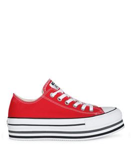 Lage sneaker Rood CHUCK TAYLOR PLATFRM