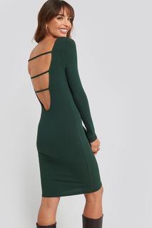 Open Back Ribbed Mini Dress