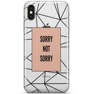 iPhone X telefoonhoesje - Sorry not sorry
