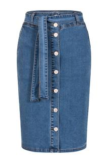 Dames Rok denim knopen