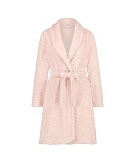 Badjas fleece Roze