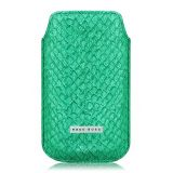 iPhone-hoesje ´Coral Green`, van zalmleer