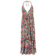 Flower Maxi Dress - Pink/Blue