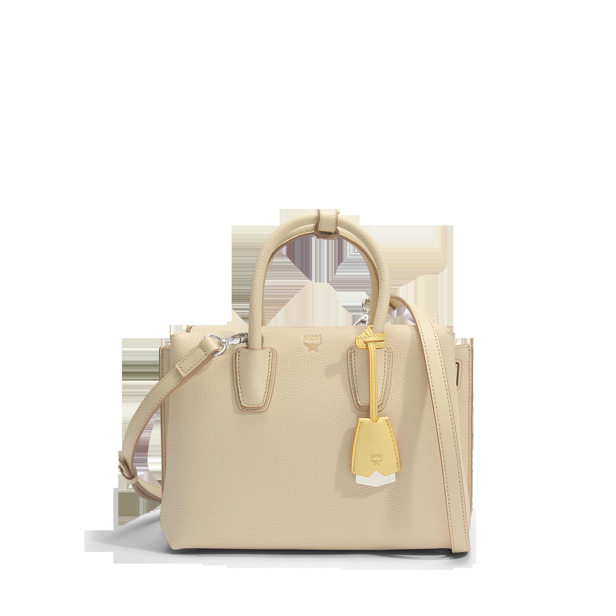Classic Goedkope Online Mcm Milla Small Tote Bag in Latte Beige Park Avenue Leather Klaring Bezoek Nieuw RIWijbrvik