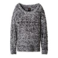 CLOCKHOUSE Grofgebreide trui wit/zwart