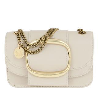 Tasche - Hopper Shoulder Bag Small Leather Cement Beige in beige voor dames - Gr. Small