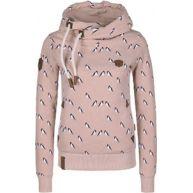 Naketano Darth Doofmann Iv W hoodie roze flecked