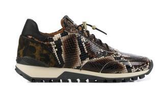 Dames Sneakers in Leder (Bruin)