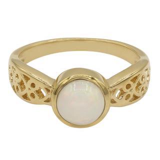 Zilveren ring met een Welo-opaal