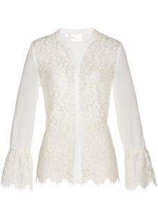 Dames blouse lange mouw in wit