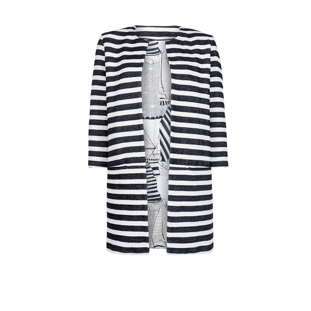 Goedkoop Echt Grote Uitverkoop  POM Amsterdam jasje Jacket Stripes Black 814 DcqidFvi