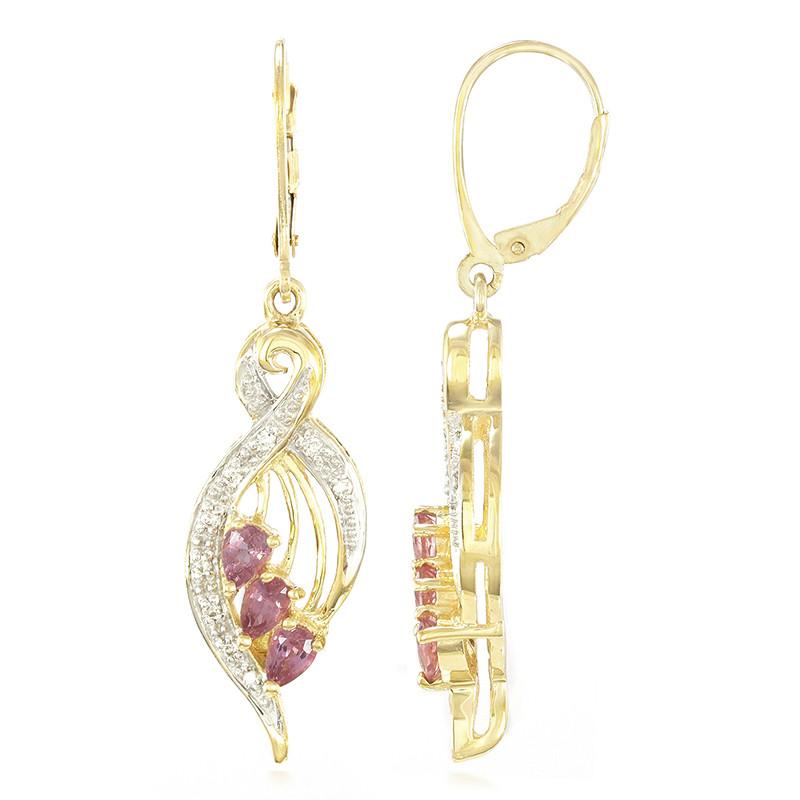 Amayani Gouden oorbellen met Onverhitte Padparadscha Saffieren Klaring Goedkope Prijs Nieuwe Collectie Online 7N2yuXjRq