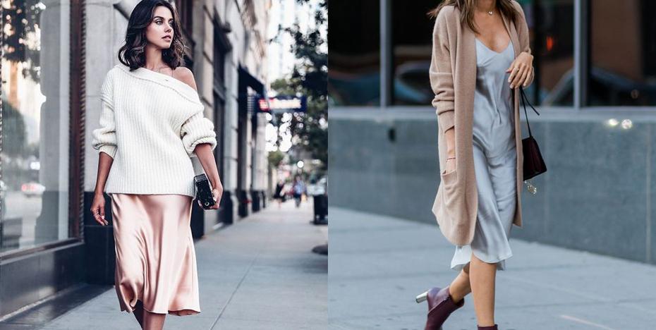 zomer herfst silk dress