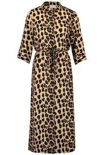 maxi-jurk met panterprint