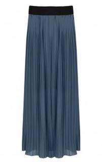 Plooirok Dames Jeansblauw