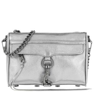 Schoudertassen - Mini Mac Chain Crossbody Bag Anthracite in zilver voor dames