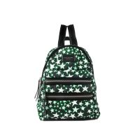 Flocked Stars Printed Biker Backpack