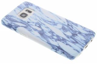 Marmer Hardcase  Backcover voor Samsung Galaxy S7 Edge - Blauw