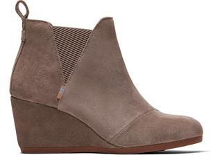 Grijze Suède Kelsey Wedge Ankle Boots Voor Dames