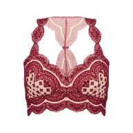 Free People STRANGE MAGIC Bustier dark red/off white