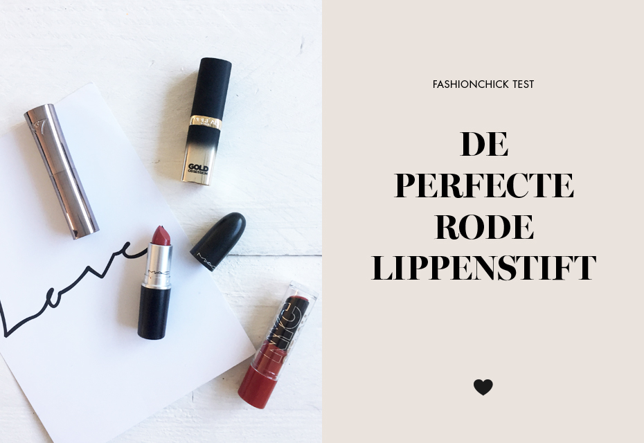 Test rode lippenstift