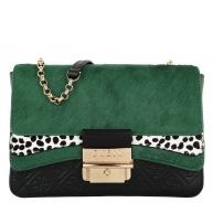 Guess Schoudertassen - Ginevra Small Crossbody Flap Bag Green in zwart voor dames