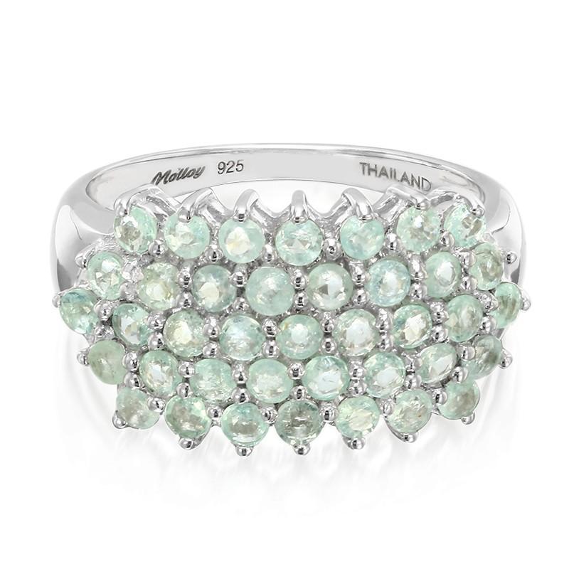 Juwelo Zilveren ring met Paraiba toermalijnen (Molloy) Gratis Verzending Finish Kopen Goedkope Professional Laatste Te Koop aanbod 4Mfgn3